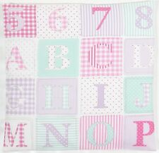 "Fryetts ABC Patchwork Fabric Pink 16"" Cushion Cover"