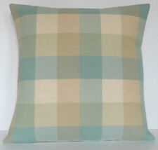 Laura Ashley Mitford Duck Egg and Beige Check Cushion Cover Size Choice