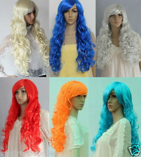 Curly Wavy Long Party Wig,  Halloween Costume wig, various color selection