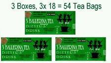 3 Ballerina Tea Dieters Drink (Extra Strength) - 3 Boxes x 18 Tea Bags RT