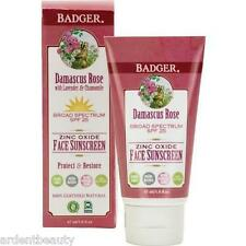 Badger Natural SPF 25 Damascus Rose Mineral Face Sunscreen, Tinted / Untinted