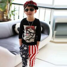 Fashion Child Kids Baby Pants Stars Pattern Cotton Casual Boy's Harem Trousers