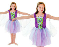 Childrens Kids Fairy Princess Fancy Dress Costume & Wings Outfit Girls 3-10 Yrs