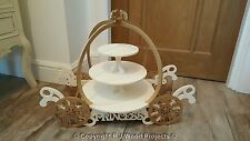 Cake Stand Wooden Carriage Mr & Mrs Princess Theme