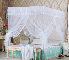 White Dot Lace Four Corner Post Bed Canopy Mosquito Netting Or Frame Post