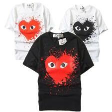 New Mens Comme Des Garcons CDG Play red Heart 100% Cotton Short Women's T-shirts