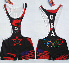American Shorts Mens Wrestling Trunk Save Olympic  Wrestling Singlet Gym Outfit