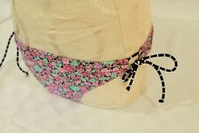 Roxy Swim Knotted Tie Side Floral women's bikini bottoms Size Large MSRP $38 NWT