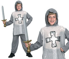 Childrens Kids Knight Fancy Dress Costume Boys Outfit Book Week 3-13 Yrs