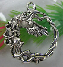 10/30pcs 33x29mm Retro style lovely angel alloy charms pendant