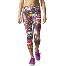 Adidas Supernova Womens Pink Climalite Capri Running Fitness Tights Bottoms