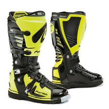 Forma Predator Black Hi Viz Neon Yellow Motorcycle MX Motocross Boots