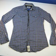 SISLEY WESTERN COWBOY STYLE BUTTON UP FLANNEL SHIRT Sz Mens S Colorful