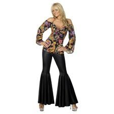 Women's Disco Costume with Bell Bottoms Adult 70s Hippie Halloween Fancy Dress