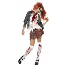 Zombie Costume for Women Adult Scary School Girl Halloween Fancy Dress