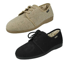 MENS SANDPIPER KEVIN FLAT LACE UP CASUAL CANVAS SHOES