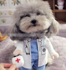 Funny Pet Dog Cat Costume Clothes Clothing Shirt Halloween Cosplay DOCTOR