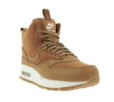 NEW NIKE WMNS Air Max 1 MID SNKRBT Shoes Women's Sneakers Boots Brown 685267 200
