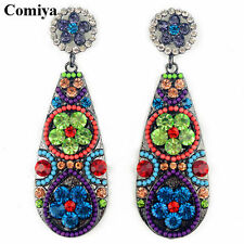 Bohemian Fashion Jewelry 2016 Vintage colorful flower dangle earring