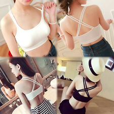 Womens Seamless Bra Leisure Crop Top Vest New SPORTS BRAS Bandeau Comfort Comfy