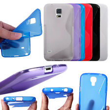 New S Shape Design Thin Soft TPU Gel Back Case Cover For Samsung Galaxy Compact