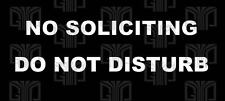 No Soliciting Do Not Disturb  Die Cut UV Vinyl Sticker Decal Choose Color