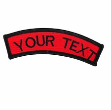 Personalized CURVE CUSTOM EMBROIDERED NAME TAG Sew on Patch Quality Badge