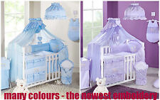 14 15 16 17 PCS PIECE BEDDING NURSERY LUXURY EMBROIDERED SET TO FIT COT COTBED