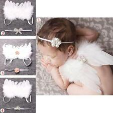 Newborn Baby Headband & Wing Angle Wing Photo Outfit Sets Dress Crown Decoration
