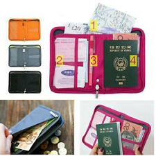 Travel Wallet Passport Holder Credit ID Card Purse Case Document Organiser Bags