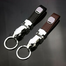 car key ring car key chain leather & steel keychain For HONDA with Gift Box