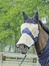 BUSSE FLY STOP Fly mask Fly hood Ears Nostril guard removable Pony WB