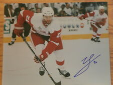 Ville Leino Autographed 8 x 10 Photo W/COA Detroit Red Wings Flyers Sabres