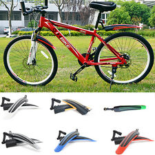 Mountain Bike Bicycle Front Rear Mudguard Multicolored Fender Set Mud Guard XC