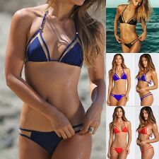 Sexy Women Padded Bra Mesh Brazilian Bikini Push Up Swimwear Bathing Swimsuit