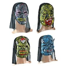 New Halloween Scary Mask Fancy Dress With Horror Face Hooded Latex Masks Costume