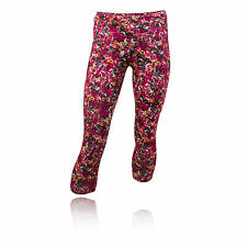 Adidas Run Womens Pink Outdoors Running Capri Running Tights Bottoms Pants