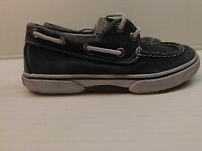 Sperry Top Sider Boys HALYARD 2 EYE GRAY SALT WASHED  Boat Shoes sz 13M (6738)