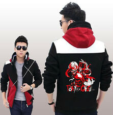 Japan Tokyo ghouls Anime Coat  Hooded  Jacket  Black and red cosplay M-4XL