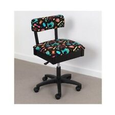 Horn Gaslift Sewing Chair - Coloured Fabric, NEW, Storage Compartment, Craft