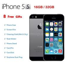 "Apple Smart Phone iPhone 5S 4G LTE 3G WCDMA Factory Unlocked 4"" 32GB/16GB Gray"
