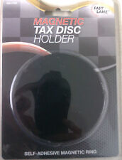 SELF ADHESIVE MAGNETIC RING MAGNETIC TAX DISC HOLDER IDEAL FOR CAR/VAN/TRUCK