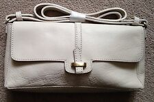 Brand NEW ZARA Cream Real LEATHER Bag With Shoulder Strap