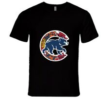 Chicago Cubs T Shirt Mens Fitted Chicago Teams Bulls Bears Blackhawks Gift Tee