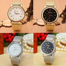 Geneva Fashion Classic Stainless Steel Quartz Women Ladies Girl Wrist Watch