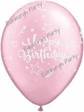 "Pearl Light Pink 11"" Latex Balloons Age 18,21,30,40,50,60,Birthday"