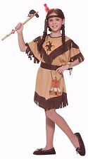 Girls Native American Indian Costume Fancy Dress Child Childrens Size S M L NEW