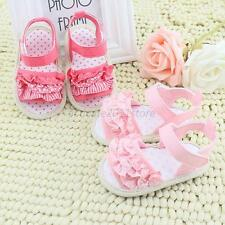 Infant Baby Summer Sandal Princess Girl Soft Sole Non-slip Crib Shoes Prewalkers