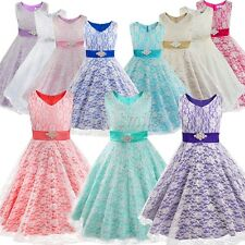 Flower Girl  Wedding Party Junior Pageant Bridesmaid Baptism Baby Princess Dress