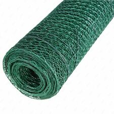 Green PVC Coated Chicken Rabbit 13mm / 25mm Wire Mesh Fencing Garden Metal Fence